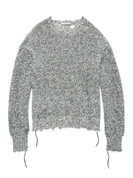 Helmut Lang Distressed Cashmere Sweater - gray
