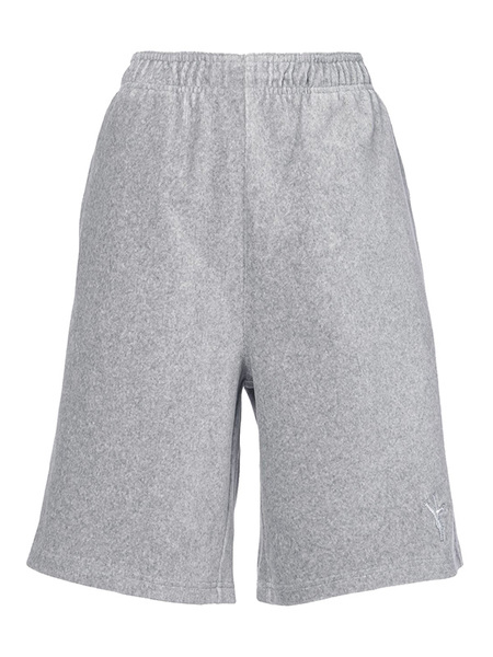 Alexander Wang Velour Knit Short With Flip Girl - gray