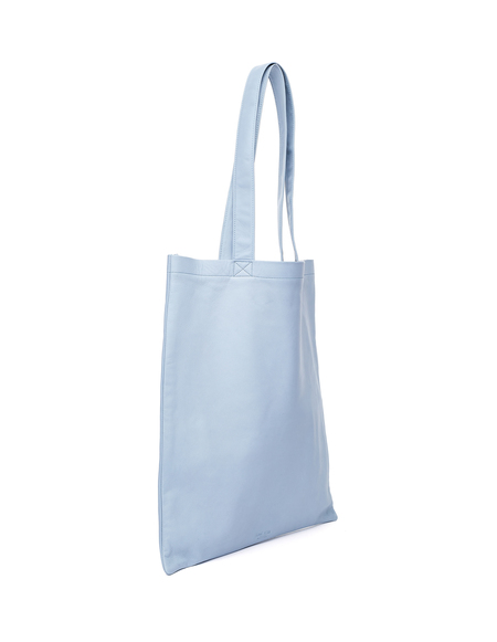 Isaac Reina Leather Tote Bag - Ultra Soft Blue