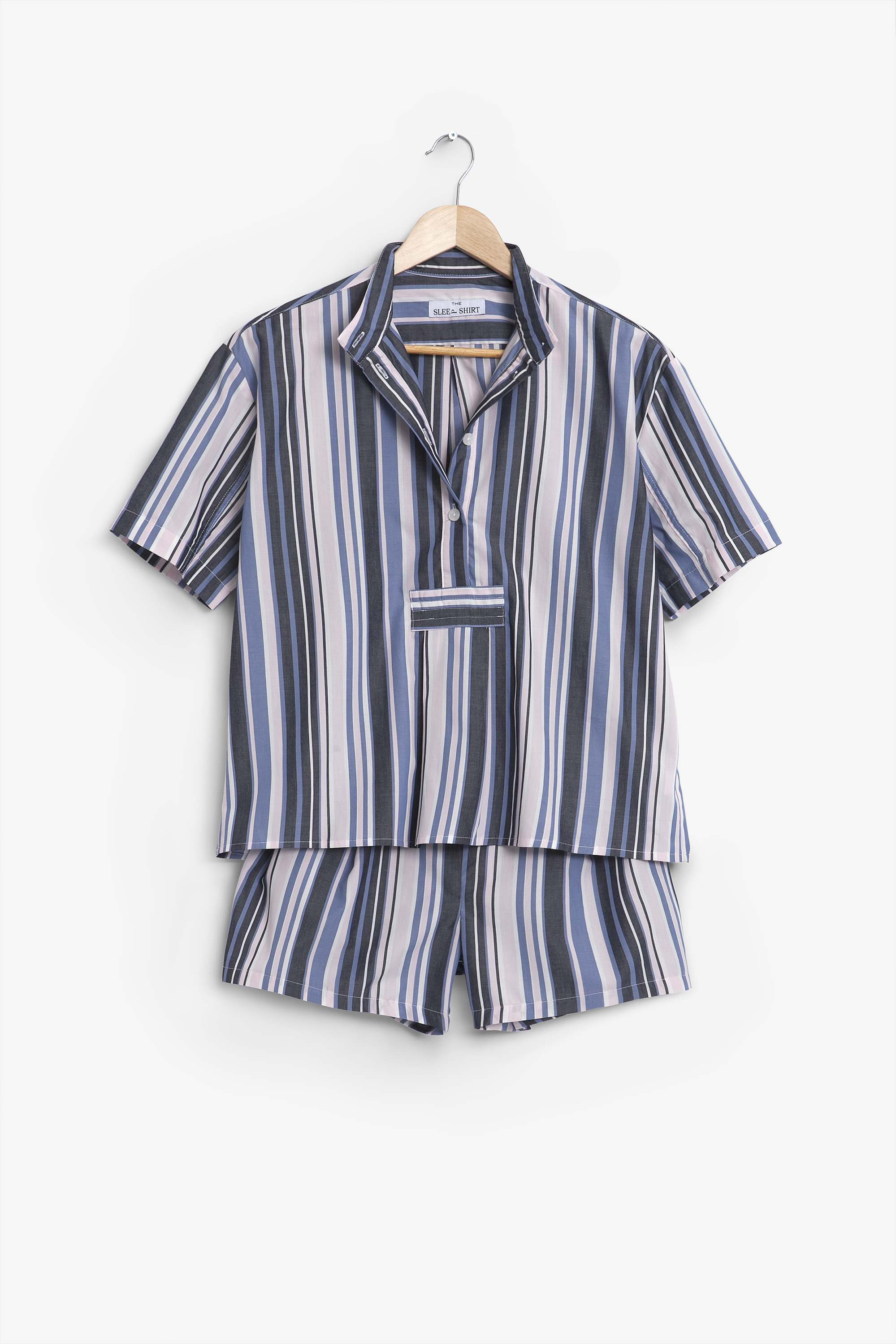 The sleep shirt short sleeve cropped sleep shirt and pleat for Sleep shirt short sleeve