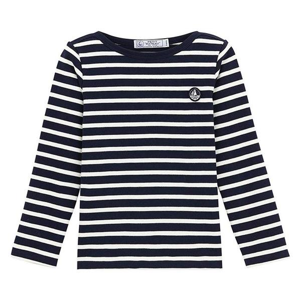 1ec850a688 KIDS Petit Bateau Child Long Sleeved Shirt - Blue And White Stripes ...