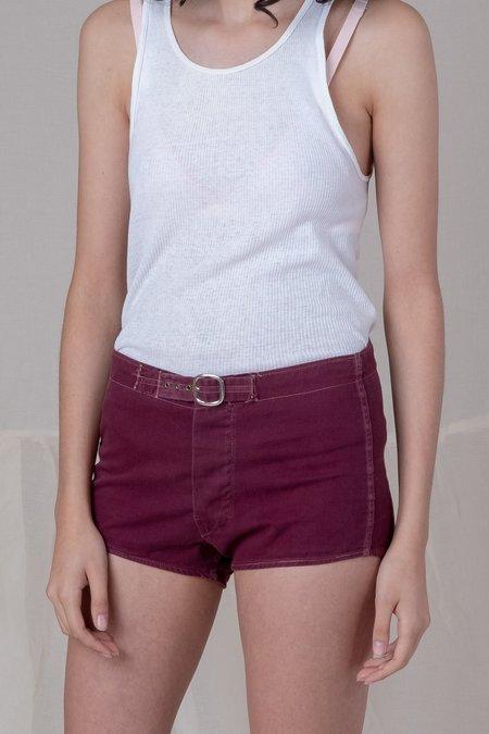 Vintage Shorts - Burgundy