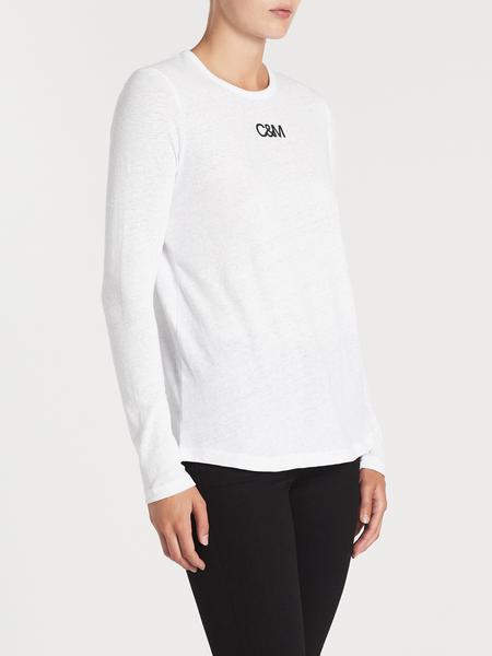 C & M Camilla And Marc Ligero Long Sleeve Top - white