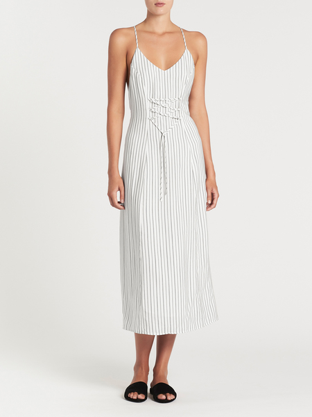 J Brand Adeline Sleeveless Dress - Satin Stripe