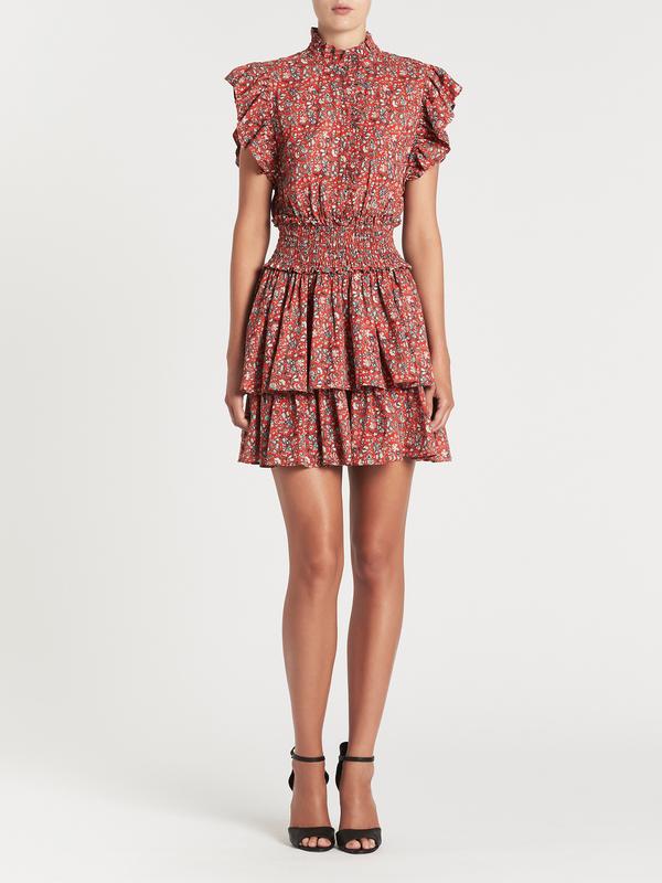 Rebecca Taylor La Vie Gitane Dress Floral Print Garmentory