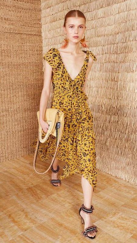Ulla Johnson Dania Dress - Yellow/mustard floral