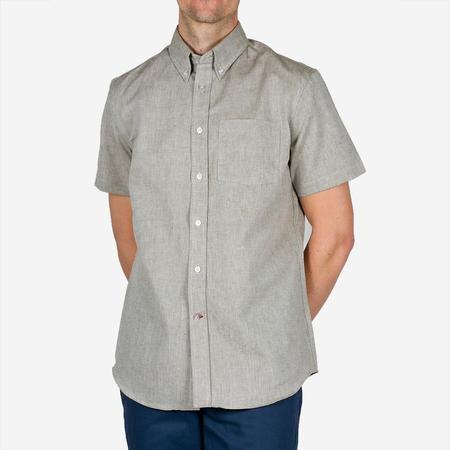 Bon Vivant Gino Short-Sleeve Linen Mix Shirt - Sage