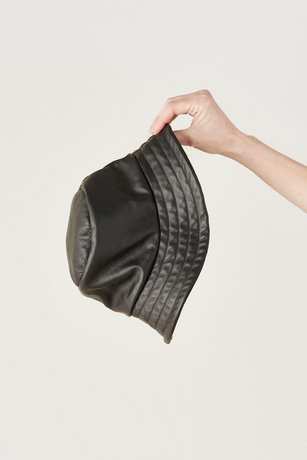 1651b2c001ab07 VEDA GINGER LEATHER BUCKET HAT - black | Garmentory
