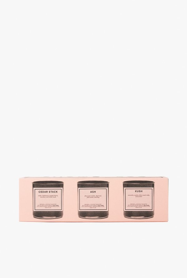 Boy Smells Votive Set - Kush Ash Cedar
