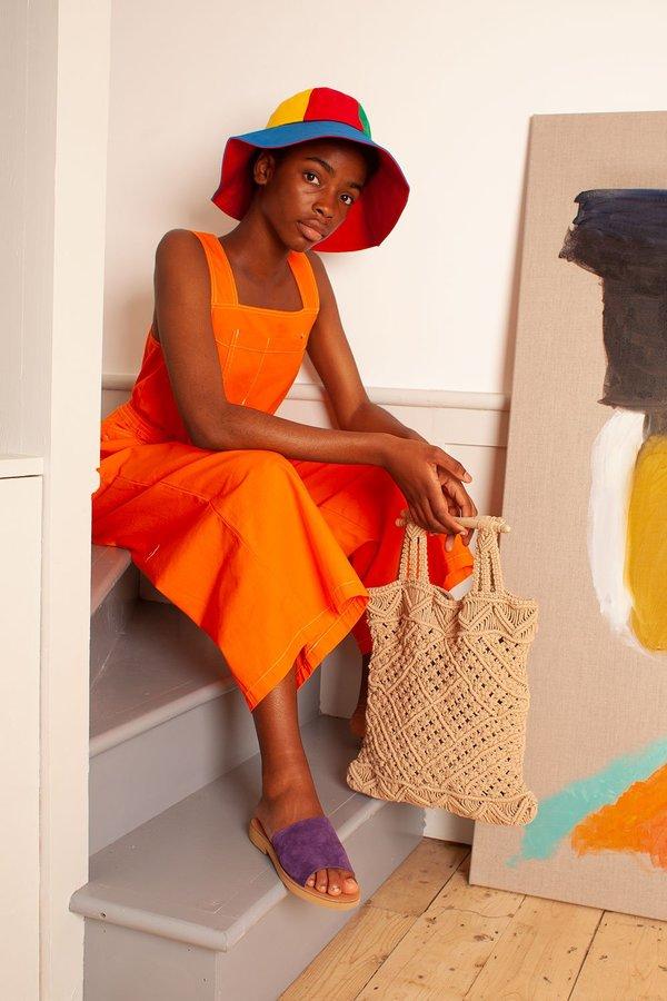L.F.Markey Reggie Jumpsuit - Tangerine