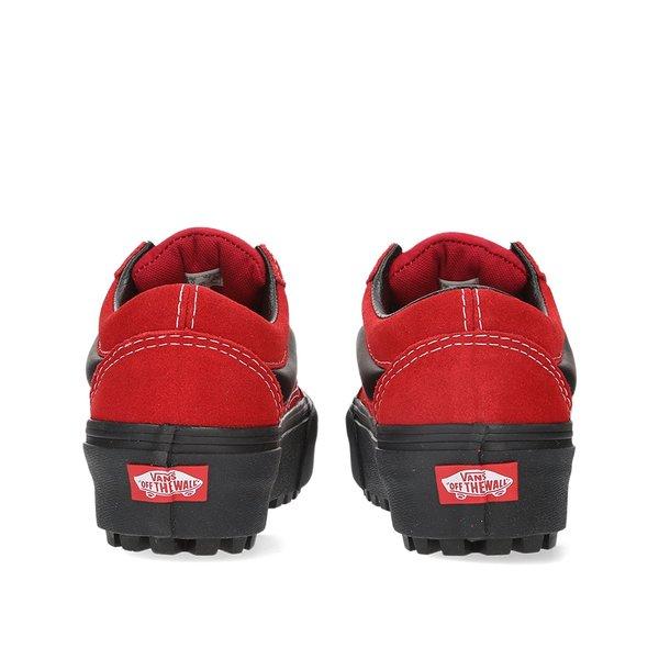 8d7039e4 VANS 90s Retro Old Skool Lug Platform - RED/BLACK