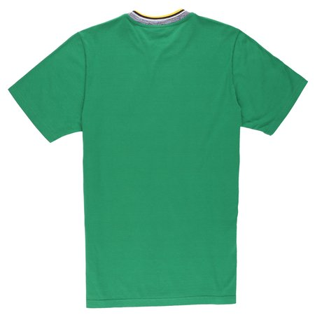 Marni Basic T-Shirt With Striped Neck - Green
