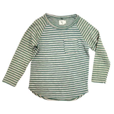 KIDS Nico Nico Perry Long Sleeved T-shirt - Moss Green Stripes