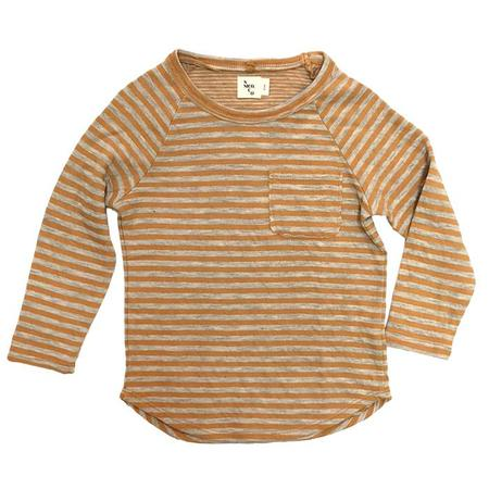 KIDS Nico Nico Perry Long Sleeved T-shirt - Mustard Yellow Stripes