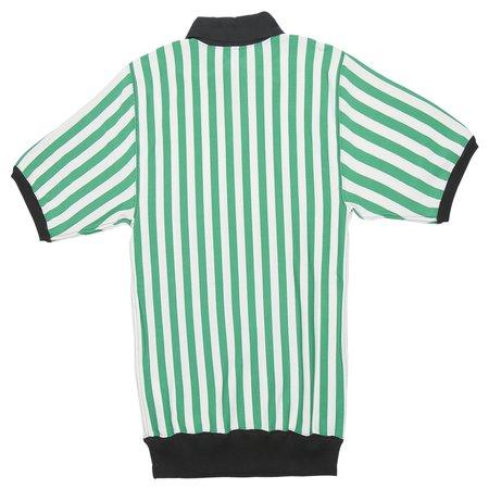 Marni Striped Polo With Zipper - Green/White