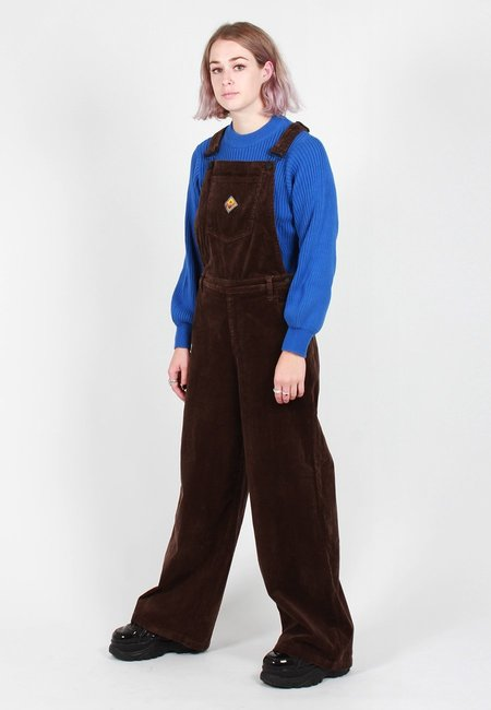 Lazy Oaf Patch It Up Dungarees - brown