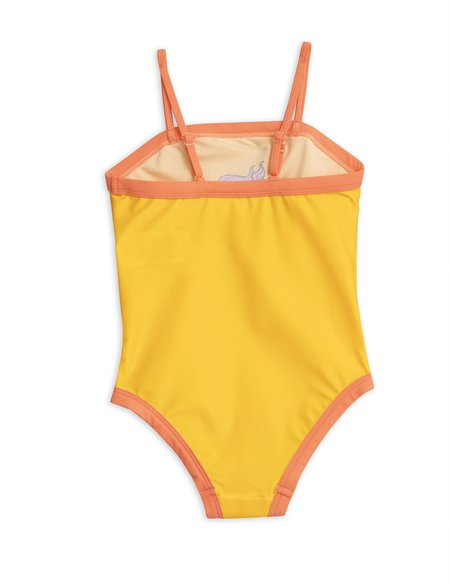kids Mini Rodini Seahorse Swimsuit - yellow