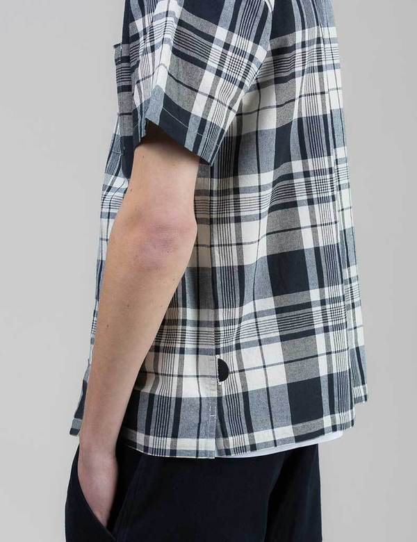Folk Check Shirt - Navy/Ecru