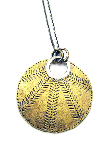 CUYLER HOVEY KING Patterned Sun Disk Necklace