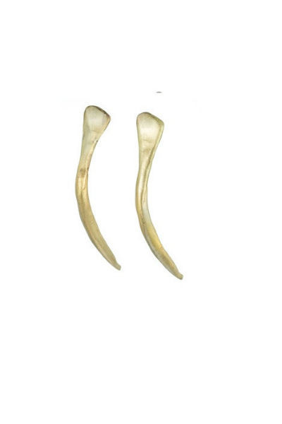 NATALIE FRIGO Small Antler Earrings