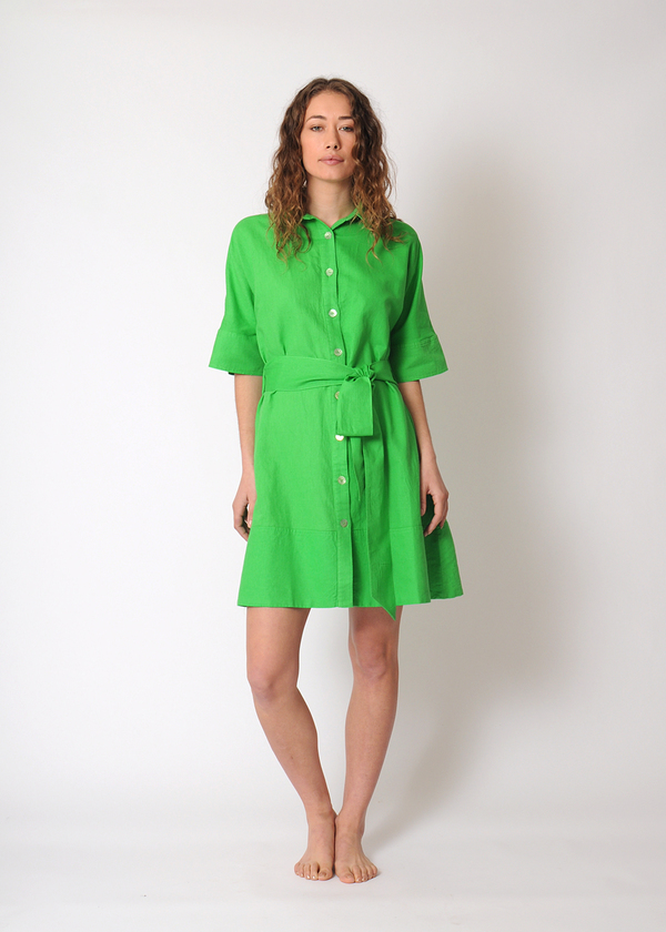 3684c6b537 Rachel Antonoff Miriam Shirt Dress - Kermit Green | Garmentory