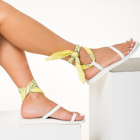 Greek Chic Melina Sandals - White