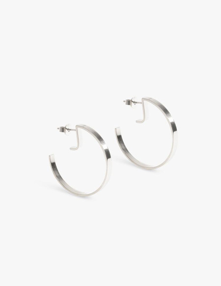 The Boyscouts Earrings Level Round hoops - Silver