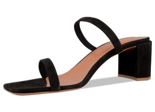 BY FAR Tanya Suede sandal - Black