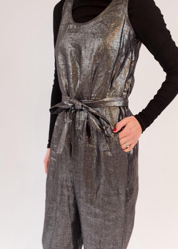 c31aac7b0ec Elk LINNEN Jumpsuit - Black silver