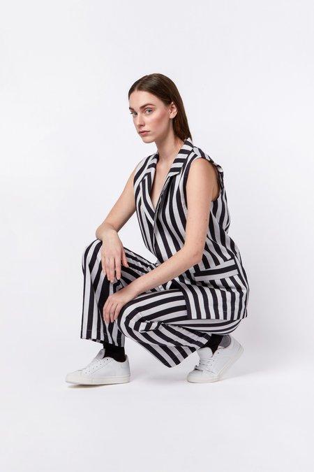 Elsien Gringhuis LIMITED EDITION Gilet - black/white stripes