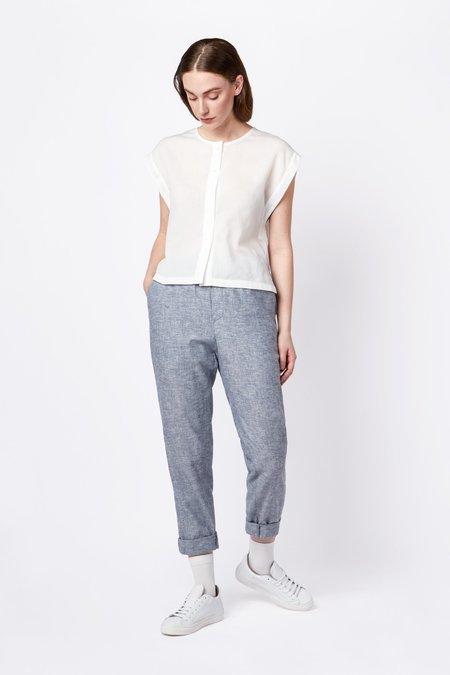 Elsien Gringhuis hemp/cotton Trousers - light blue melange