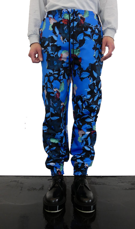FLOWERS TRACK PANTS - BLUE FLORAL