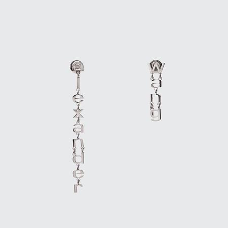 ALEXANDER WANG Letter Dangle Earrings