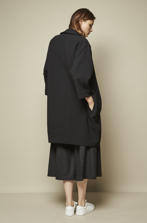 RELAXED FIT COCOON COAT