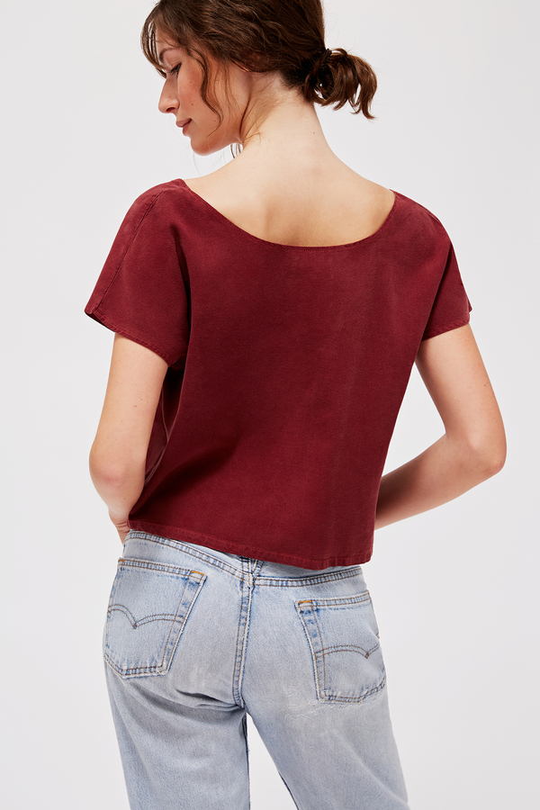 Lacausa Reversible Silk Top