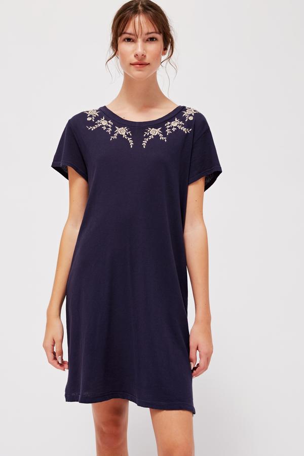 Lacausa Embroidered Basic Tee Dress