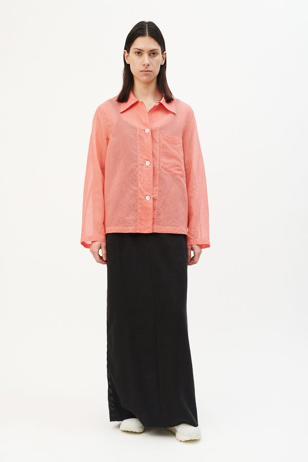 0de0709d6ebb3f Our Legacy Square Thin Silk Shirt - Red Stripe