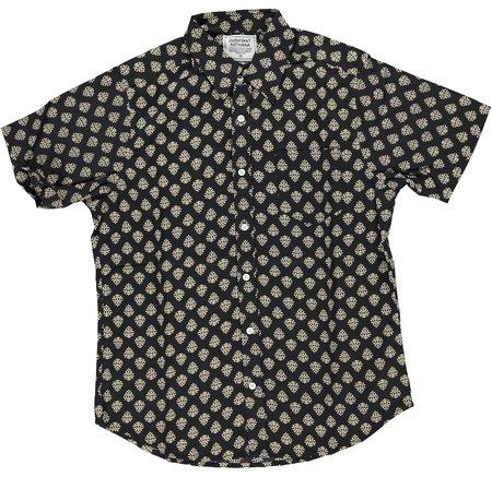 Dushyant Asthana Hand Printed The Folk Short Sleeve Shirt - Black/Motif
