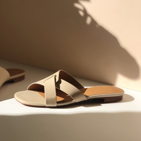 Robert Clergerie leather Aston mules - clay