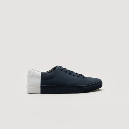 THEY Two-Tone Low Suede - Navy/White