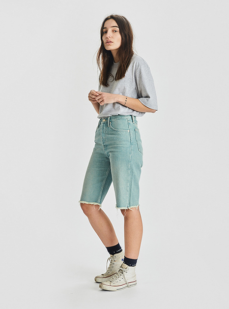 I AND ME Selvedge Shorts - Rusted Blue