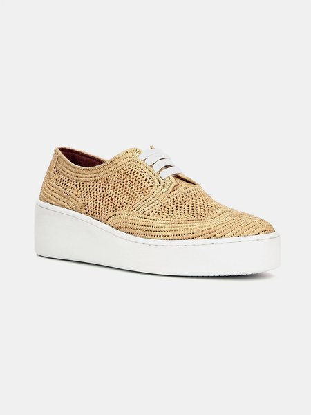 Robert Clergerie clergerie taille sneaker - Natural Raffia