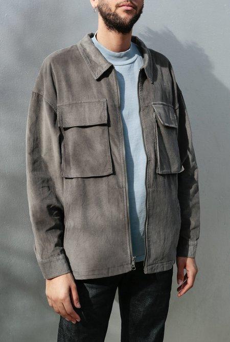 Candor Corduroy Zip Front Shirt