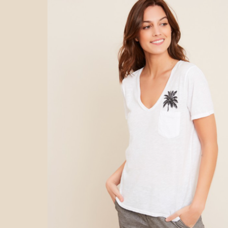 Hartford PALM TREE EMBROIDERED T-SHIRT