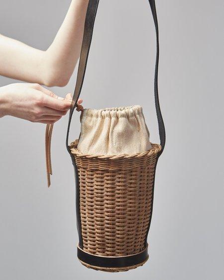 Actually Existing Vase Cane Bag - Natural/Black