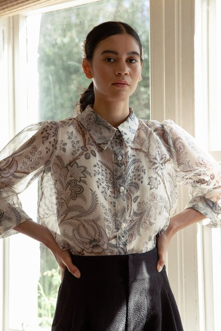 BEFORE MARCH Amelie shirt - floral organza