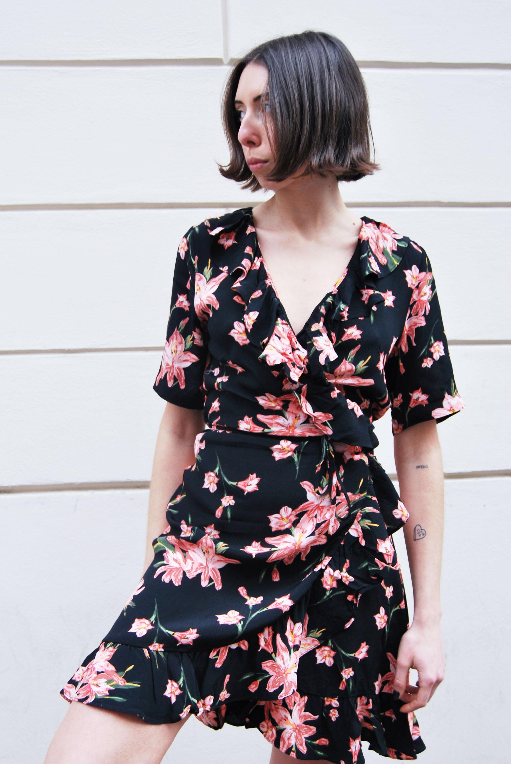 d1567c5e1 Just Female Oline Wrap Dress - Cole Aop