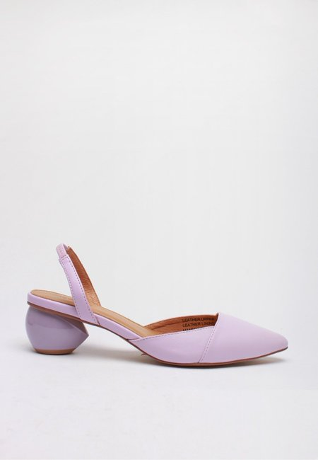 Jaggar Sling Leather Pump - lilac