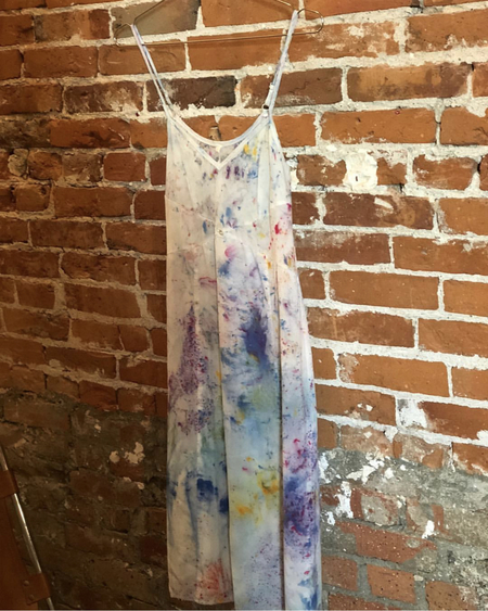Botanica Workshop Tie-dye slip dress