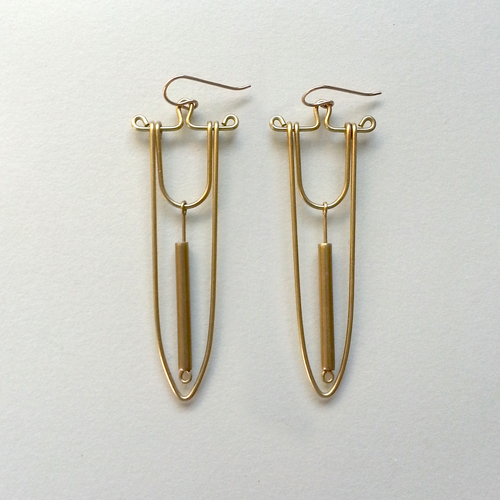 Hellbent Spear & Bead Earrings